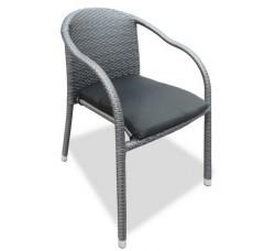 Плетеный стул LOTUS темно-серый