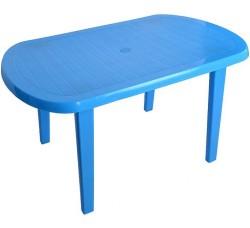 Стол пластиковый овальный голубой
