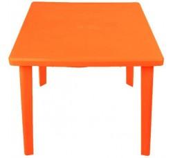 Стол пластиковый квадратный оранжевый