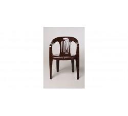 Кресло пластиковое, шоколадный