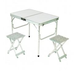Набор мебели для пикника 3 предмета, алюминий