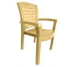 Кресло пластиковое бежевое, 50х58х90 см