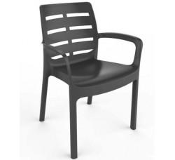 Кресло пластиковое чёрное, 61x56x82 см