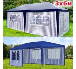 Садовый шатер AFM 1015A blue/white 3х6м