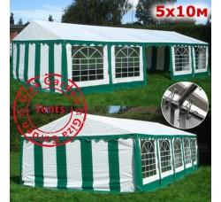Шатер павильон Giza Garden 5х10м бело-зеленый