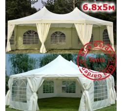"""Восьмиугольный шатер """"Giza Garden"""" 5х6.8 м бежевый"""