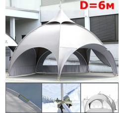 Dome шатер павильон со стенками 6 м (арочный) белый
