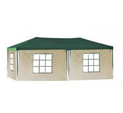 Садовый шатер 3х6м со стенками, зелено-бежевый