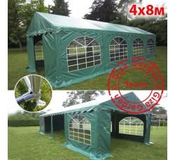Шатер павильон 4х8м зеленый, усиленный