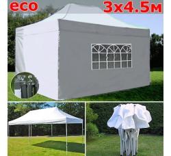 Быстросборный шатер гармошка со стенками 3х4,5м белый