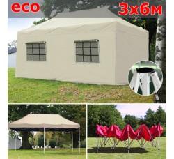 Быстросборный шатер гармошка со стенками 3х6м Бежевый