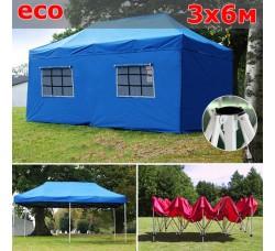 Быстросборный шатер гармошка со стенками 3х6м синий