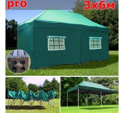Быстросборный шатер автомат PRO 3х6м зеленый