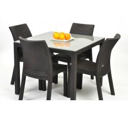 Обеденная группа стол Sumatra и 4 стула Toscana