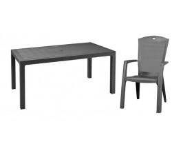 Обеденная группа стол Melody и 6 стульев Minesota