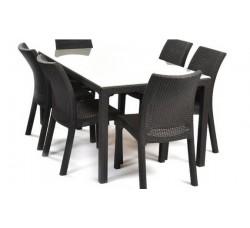 Стол Samoa со стеклом