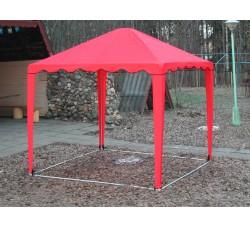 Садовый Тент 3х3м,  усиленный каркас, без стенок, красный