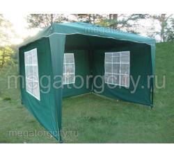 Садовый Тент арт. 030 3х3м с 3 стенками, зеленый