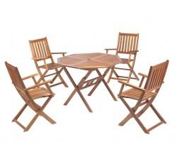 Комплект мебели Тауэр складной стол и 4 стула