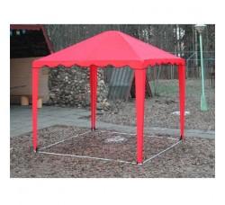 Садовый Тент 2,5х2,5м усиленный каркас, без стенок, красный