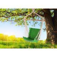 Кресло гамак из льна с поролоновыми вставками зеленый