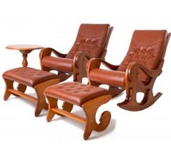 Набор мебели Грация (2 кресла-качалки с 2 банкетками и чайным столиком (б/р)