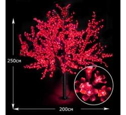 LED дерево Сакура 250см красный