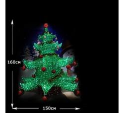 LED Хрустальная Елка 160см