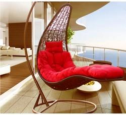 Подвесное кресло-шезлонг Relaxa Brawn (стойка оплетена ротангом)