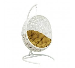 Подвесное кресло Lunar White 118х100