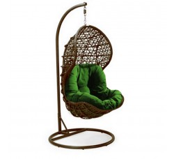 Подвесное кресло Lotos Brawn (стойка оплетена ротангом)