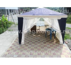 Садовый тент шатер (Green Glade 1031)  3х3м 2 стенки с окном, 2 сетки