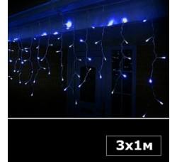 Светодиодная бахрома 3х1 м синий