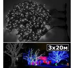 LED нить 5 нитей по 20м с контроллером холодный белый