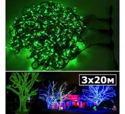 LED нить 5 нитей по 20м с контроллером зеленый
