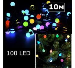 LED гирлянда шарики 10м RGBY