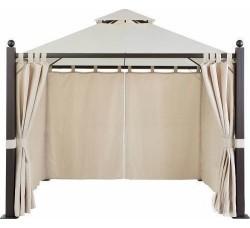 Комплект плотных и москитных штор, 3х3м, на петлях, Black out, бежевые