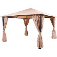 Комплект плотных штор, для шатра 3х4м/3,5х3,5м на петлях, бежевые
