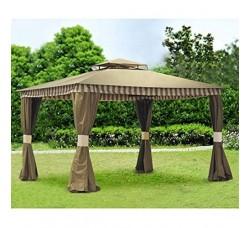 Комплект плотных штор, для шатра 3х3м, цвет кофе с молоком