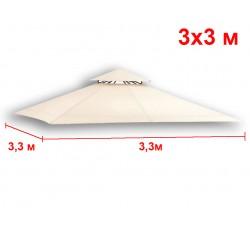 Крыша для квадратной беседки 330х330 см с клапаном