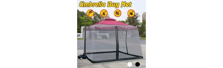 Москитная сетка для шатра и зонта на молнии 3х3м