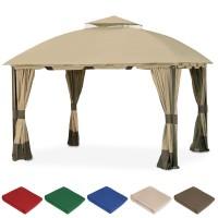 Комплект плотных штор для шатра 300Д 3х3м светло-кофейный с темным низом