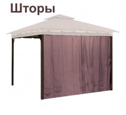 Комплект плотных штор для шатра 300Д 3х3м коричневые