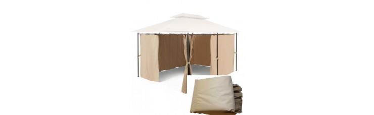 Комплект плотных штор для шатра 300Д 3х3м светло-бежевый