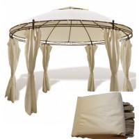 Комплект плотных штор для шатра 6 граней 300Д 2х2х2м светло-бежевый