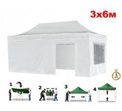 Быстросборный шатер автомат 4360 Helex, 3х6м, белый