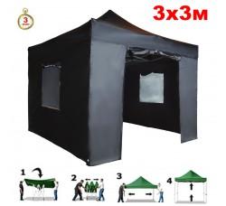 Быстросборный шатер автомат 4332 Helex, 3х3м, черный