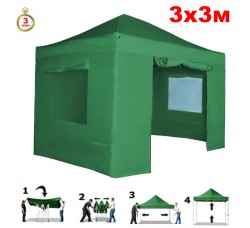 Быстросборный шатер автомат 4331 (Helex) 3х3м. зеленый