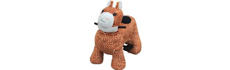 Зоомобиль Joy Automatic Жираф с монетоприемником