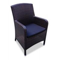 Плетеное кресло MYKONOS обеденное темное
